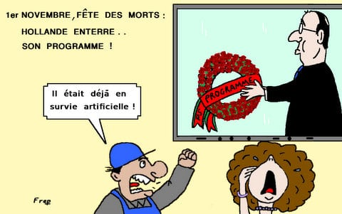 1er  Novembre  :  Hollande  enterre  son  programme  . .