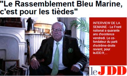 FN : J.-M. Le Pen, un Juif descendant d'esclaves africains