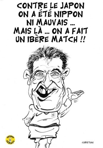 Didier DESCHAMPS satisfait après le match ESPAGNE/FRANCE,