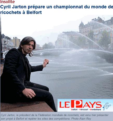 Un « savoureux » championnat de ricochets à Belfort