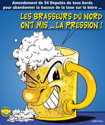 Mise en bière de la taxe ….