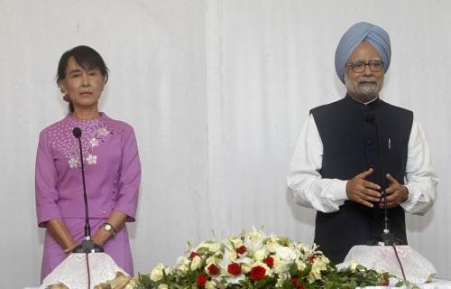 Birmanie : Aung San Suu Kyi rencontre le premier ministre indien