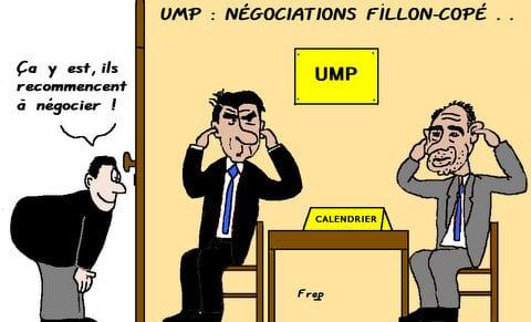 UMP : négociations Copé-Fillon . .