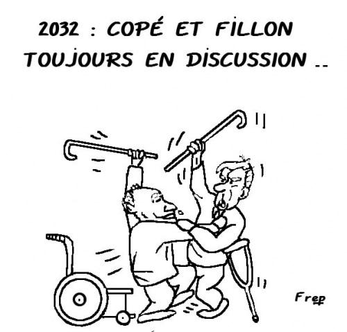 Copé  et Fillon  toujours  en  discussion en  . . 2032  ?