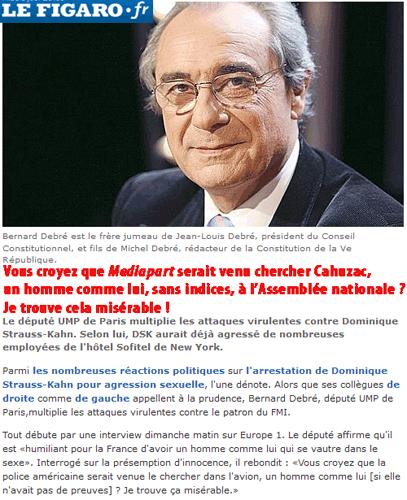 Affaire Cahuzac : le pas vu, pas pris de Bernard Debré