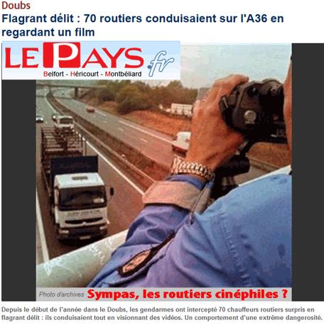 Sécurité routière : sympas, les routiers cinéphiles ?
