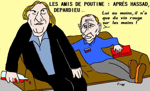 Les  amis  de  Poutine  :  aprés  Hassad  ,  Depardieu . .