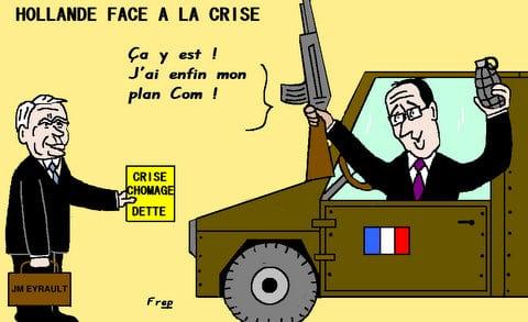 Hollande  face  à  la  crise  !