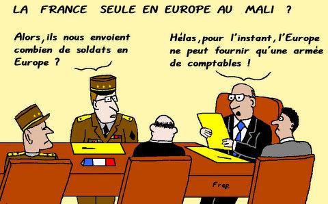 La  France  seule  en  Europe  au  Mali  ?