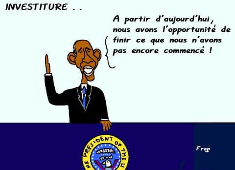Obama :  l'investiture . .