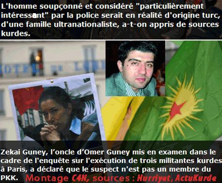 Kurdes exécutées à Paris : douteux suspect