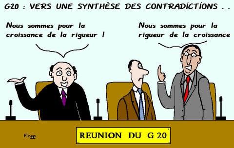 Réunion du G 20  :  vers une synthèse des  contradictions . .