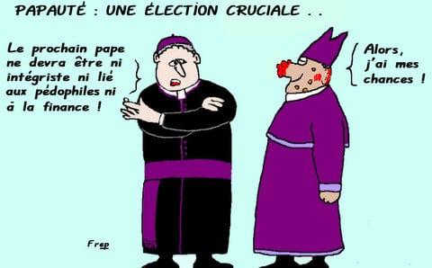 Papauté  :  une  élection  cruciale . .