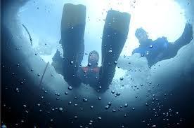 brrr…plongée sous la glace!