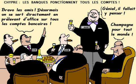 Chypre  :  les  banques  se  servent . .