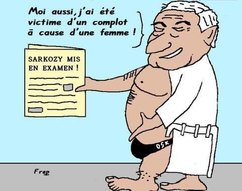 Sarkozy  mis  en  examen  ou  le  complot . .