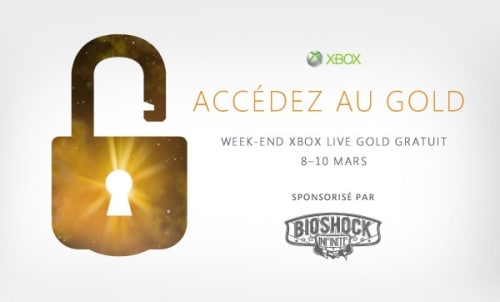 Week end Live Gold Gratuit du 8 au 10 mars + offres exceptionnelles