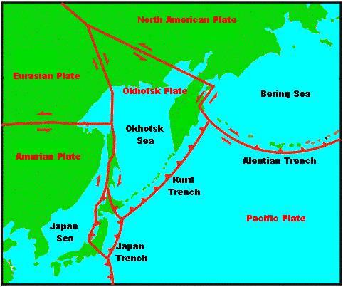 Triplette sismique, magnitude supérieure à 6.0, sans réplique, aux Îles Kouriles.