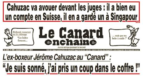 Affaire Cahuzac : la une sans risque du Canard enchaîné
