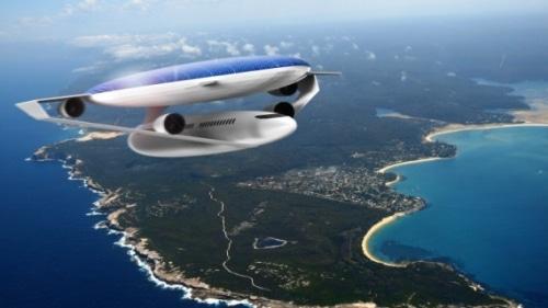 L'avion du futur à l'énergie solaire.
