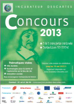 Incubateur Descartes : Concours 2013