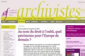 L'inquiétude des archivistes vis-à-vis d'un projet européen.