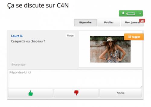 « Ça se discute » sur C4N, une application très conviviale !