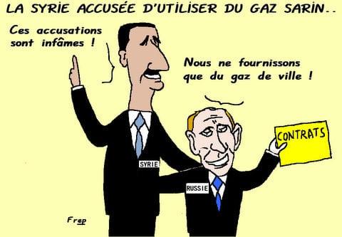 La  Syrie  accusée  d'utiliser  du  gaz  sarin  !