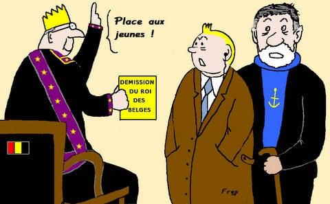 Abdication  du  roi  des  Belges  !
