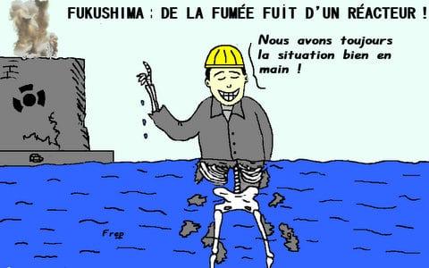 Fukushima :  de  la  fumée  s'échappe  d'un  réacteur . .