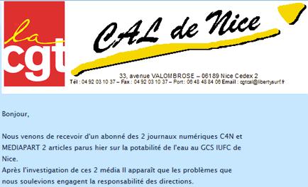 Risques d'infections à l'IUFC de Nice : un camouflage politico-médical ?