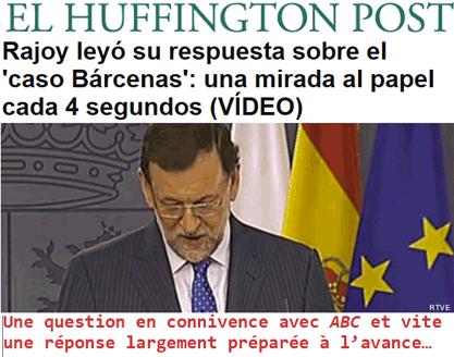 Espagne : le PP à Barcenas – tu te tais et le garde des sceaux saute !