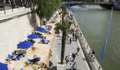 Paris Plages débute  sous le soleil !