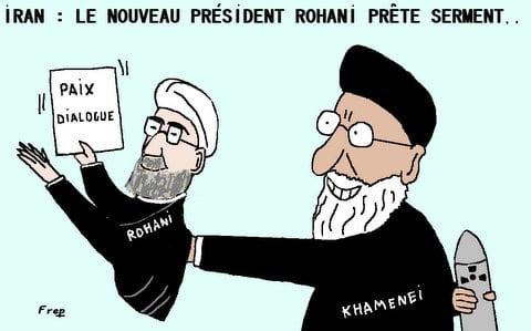 Iran :  le  nouveau  président  a  prêté  serment . .