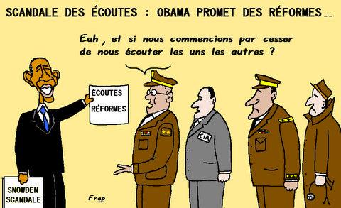 Scandale  des  écoutes  :  Obama  souhaite  des  réformes . .