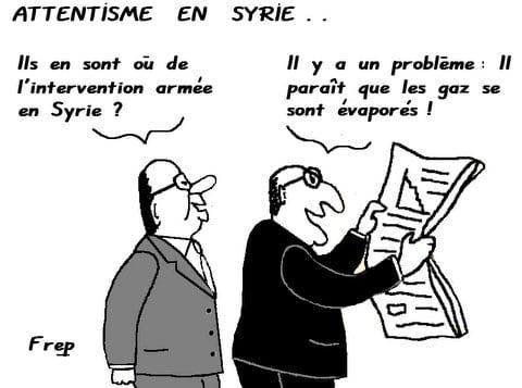 Attentisme  en  Syrie . .