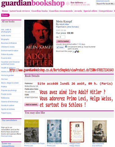 Mein Kampf recommandé par Facebook : un non-événement ?