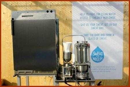 Et si une machine, pouvait transformer notre sueur en eau potable ?