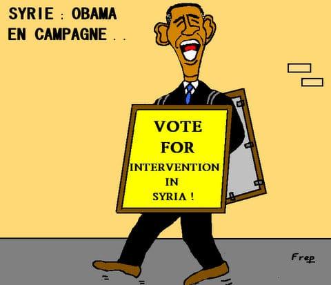 Syrie :  Obama  en  campagne  électorale . .