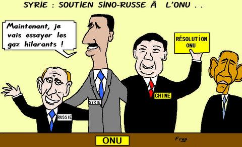 Syrie  :  soutien  sino-russe  à  l'ONU  . .