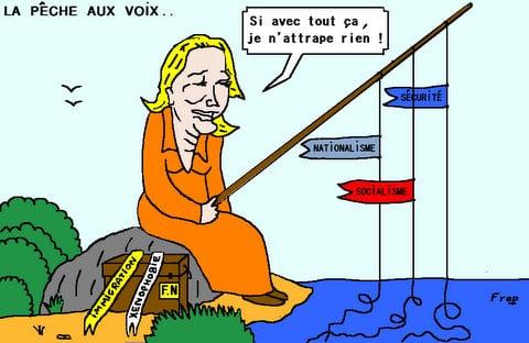 Le  Front  national  a  la  pêche . .