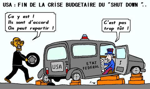 Etats unis  :  fin  de  la  crise  budgétaire  du  » shut  down  «