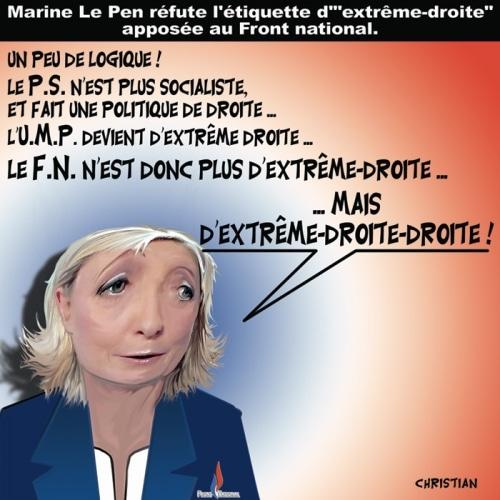 Le FN n'est pas d'extrême-droite ….