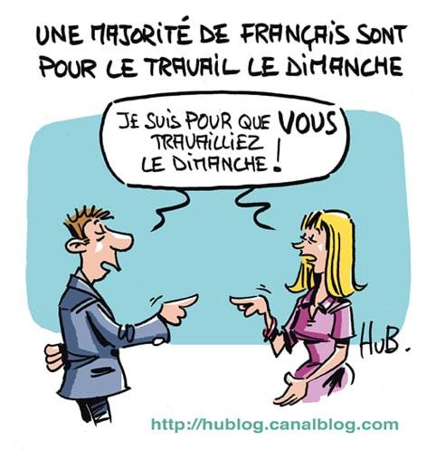 Les français sont pour le travail le dimanche