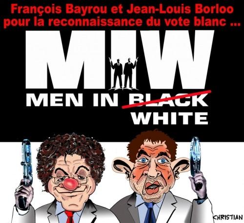 MEN IN .. WHITE !