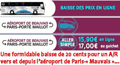 Vers ou depuis l'aéroport de Paris-«Meauvais », préférez le train aux bus de TPB !