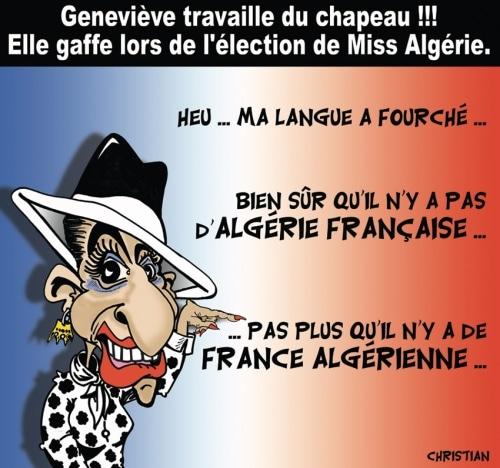 Geneviève de Fontenay travaille du chapeau !!!