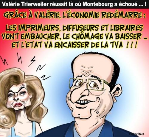 «Merci pour ce moment» Valérie Trierweiler … sauve l'économie française !
