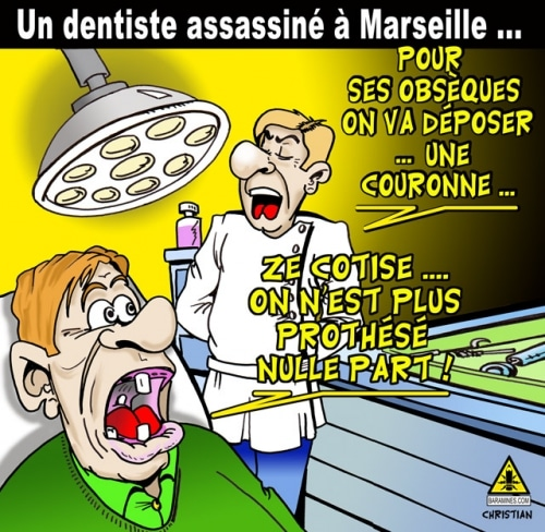 Couronne …(de deuil) pour un dentiste !