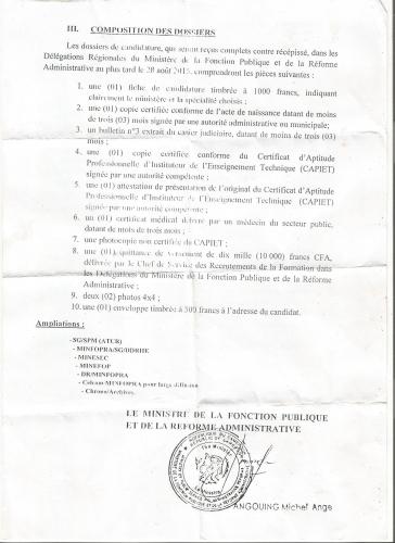 Cameroun : Recrutement de 885 Instituteurs de l'Enseignement Technique lancé !